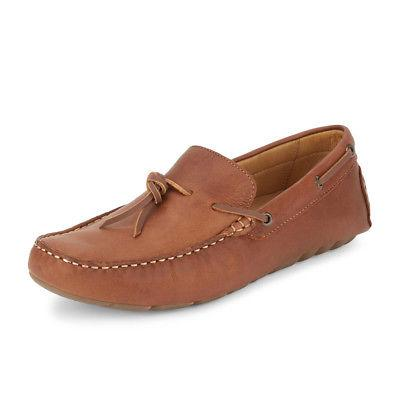 Lucky Brand Mens Wagner Genuine Leather Slip-on Loafer Rubbe