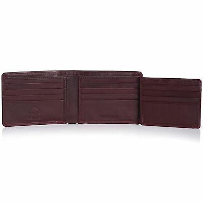 Alpine Real Leather Bifold Hybrid ID Case