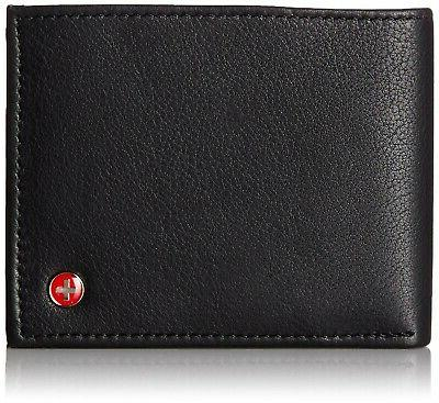mens wallet real leather bifold trifold hybrid