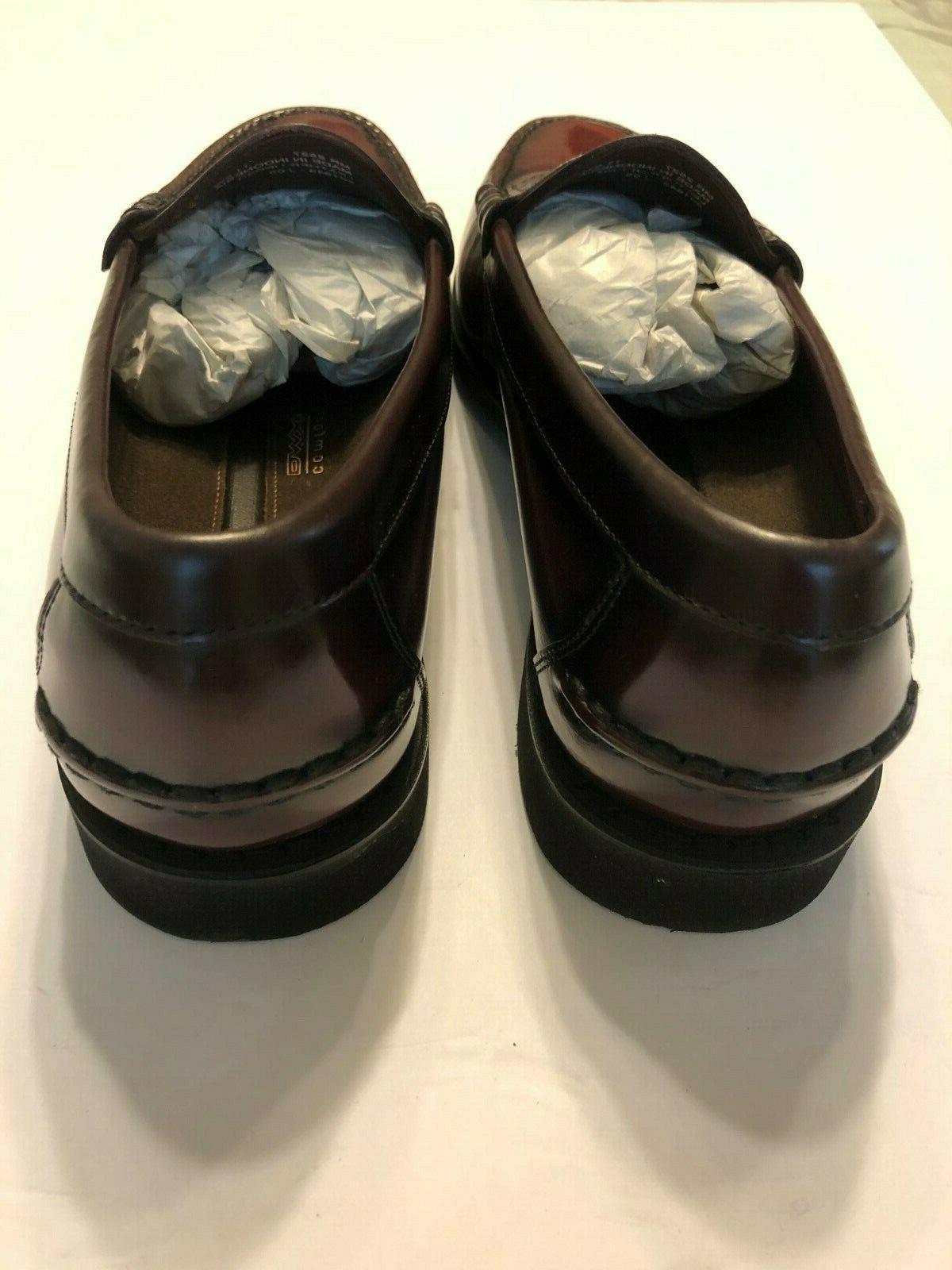 Rockport MR2527 Men's Burgundy Comfort Leather Penny Loafer 11.5