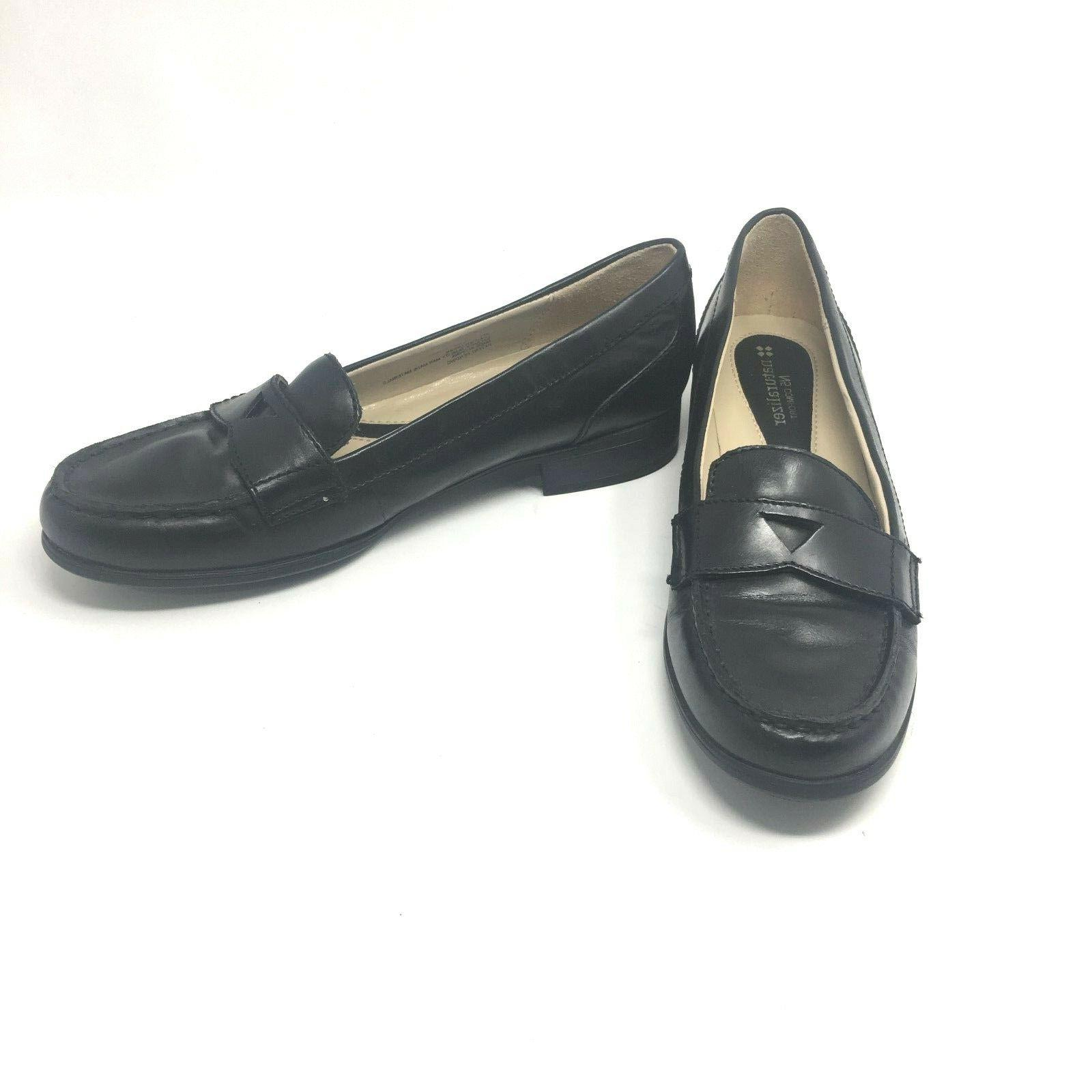 Naturalizer Comfort Womens Black June Loafers 9N