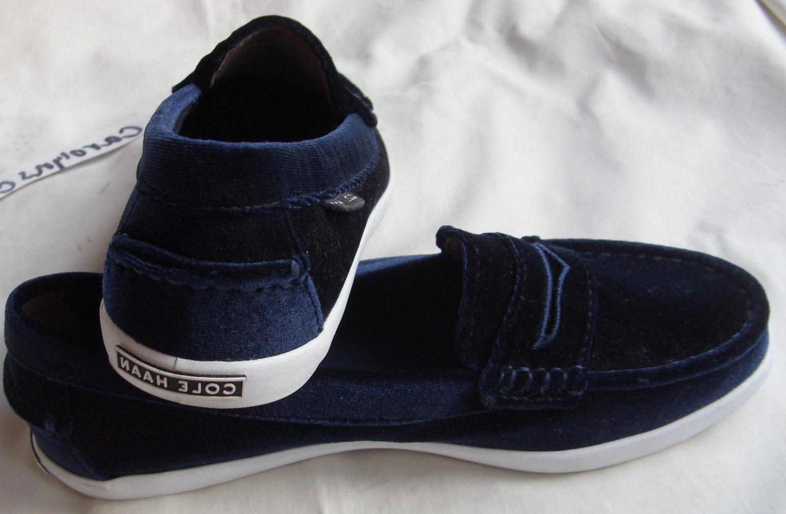 NEW AUTH COLE HAAN WOMENS NANTUCKET II SHOES NAVY BLUE WHITE SZ 7