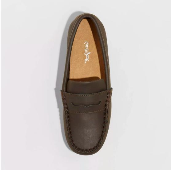New Cat & Samuel Penny On Loafers Brown Boys Size