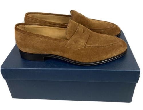 NEW Millar Collection Loafer Suede Cognac Size 10.5 Mens