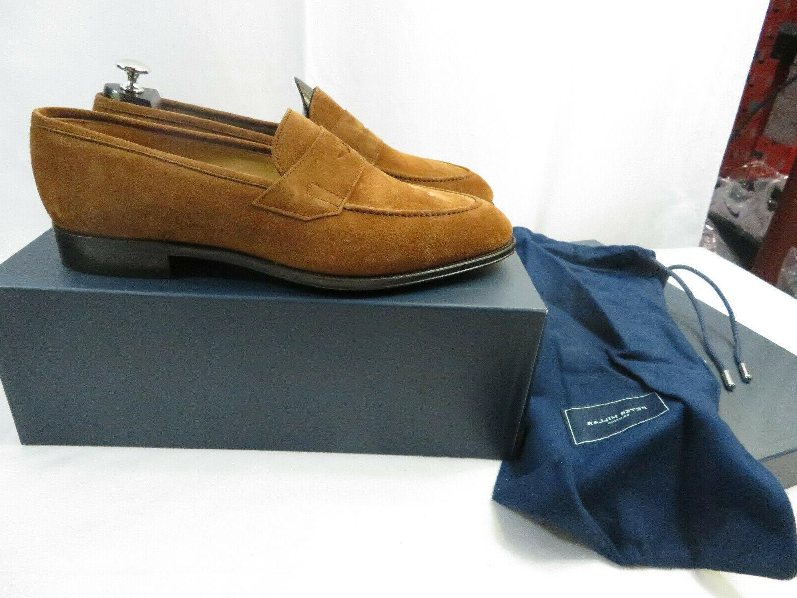 new collection loafer suede cognac size 10