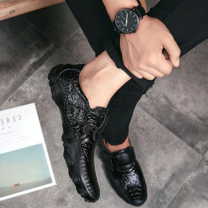 new fashion mens driving moccasins shoes leather