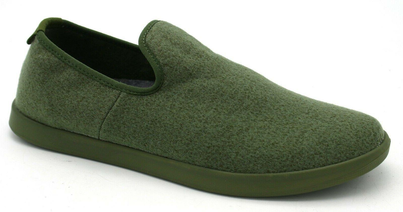 New Men's Allbirds Wool Lounger Loafer Black Moss Gray