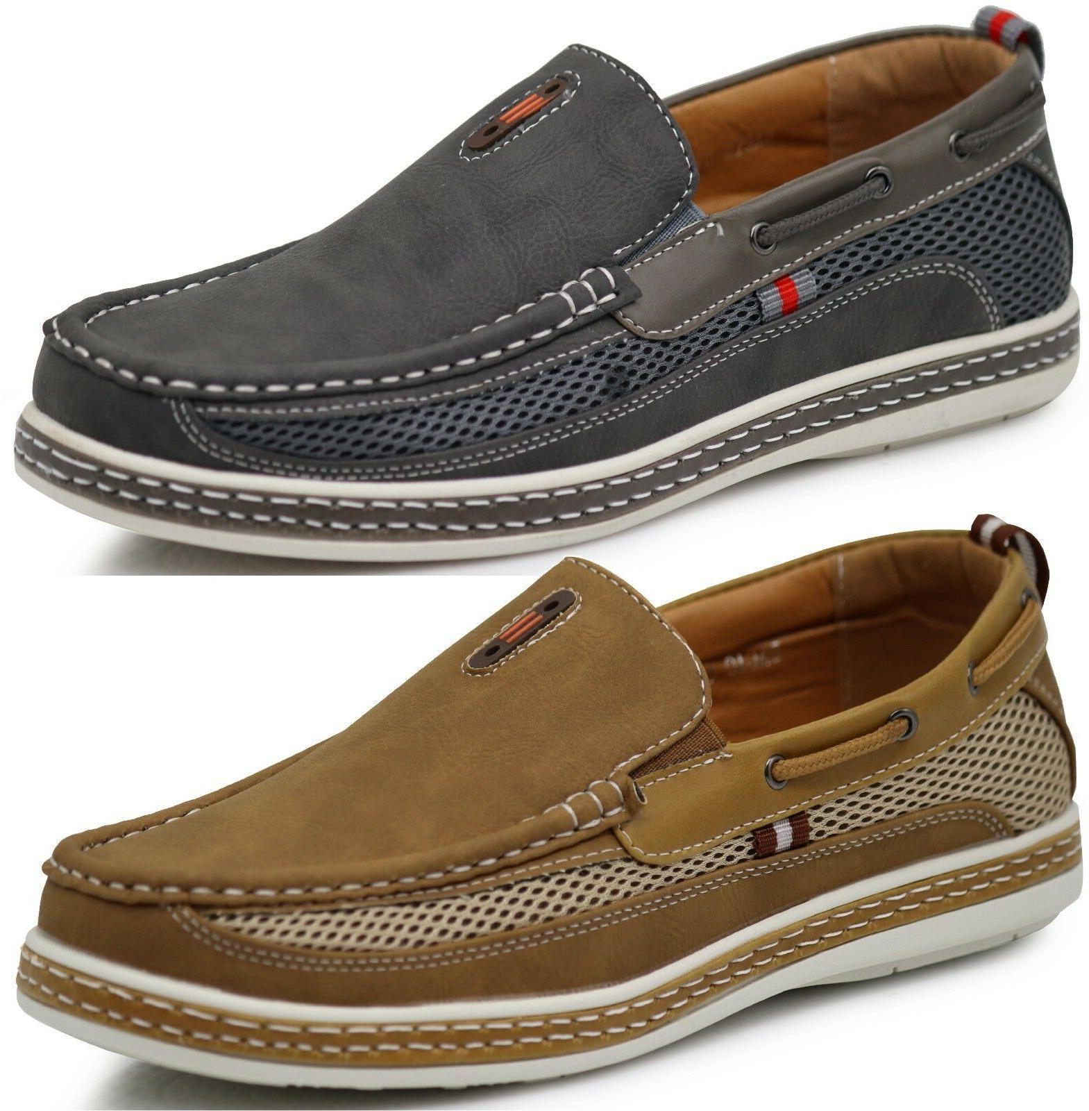 new men boat shoes driving moccasins slip