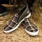 New Men's Converse Gray & Black Plaid Slip On Loafers US Siz