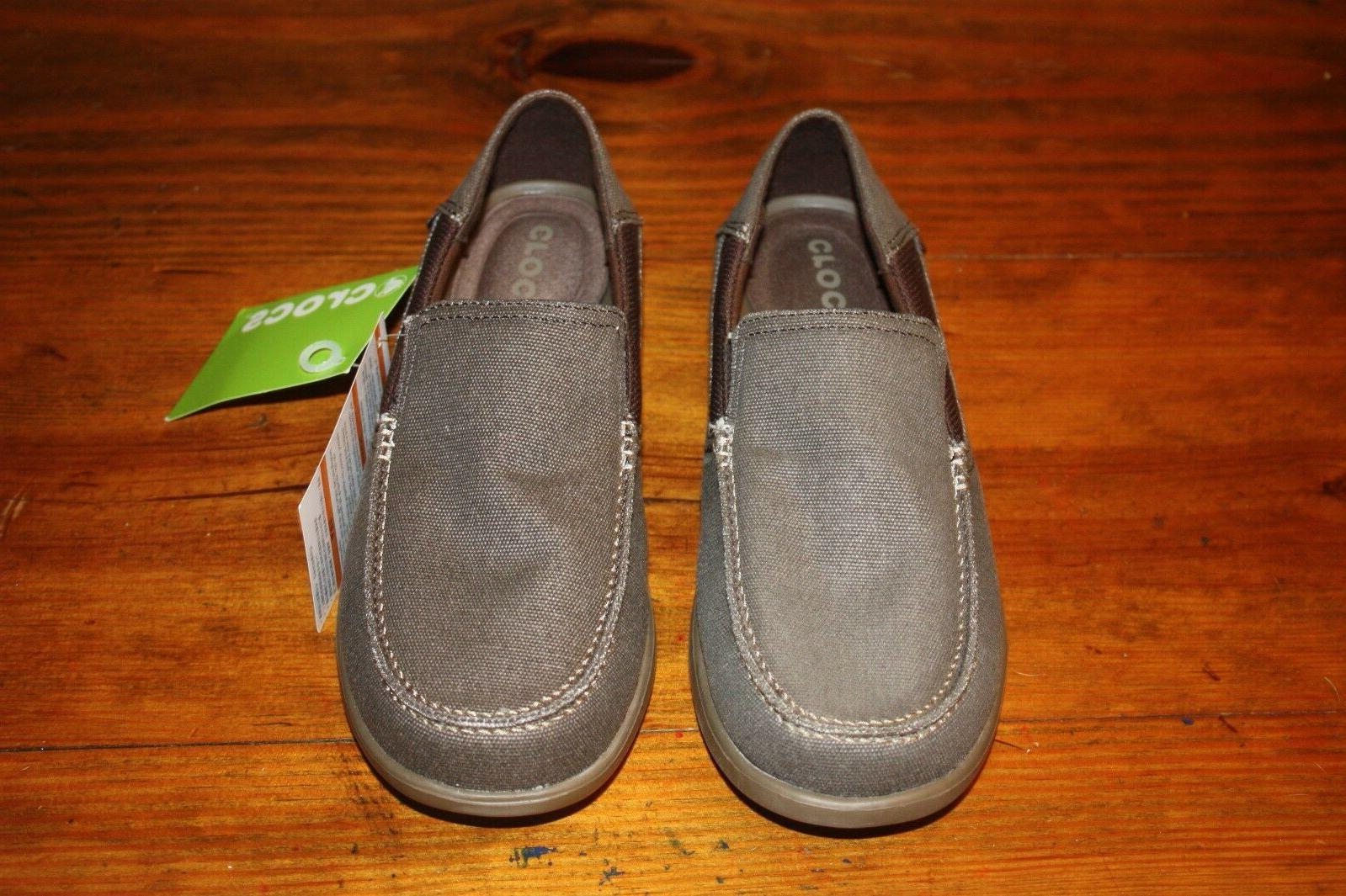 NEW Crocs Cruz 2 Brown Loafer Walnut Size 8