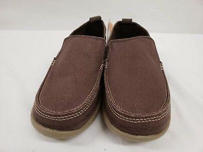 New Men's Canvas On Espresso Brown Tan,