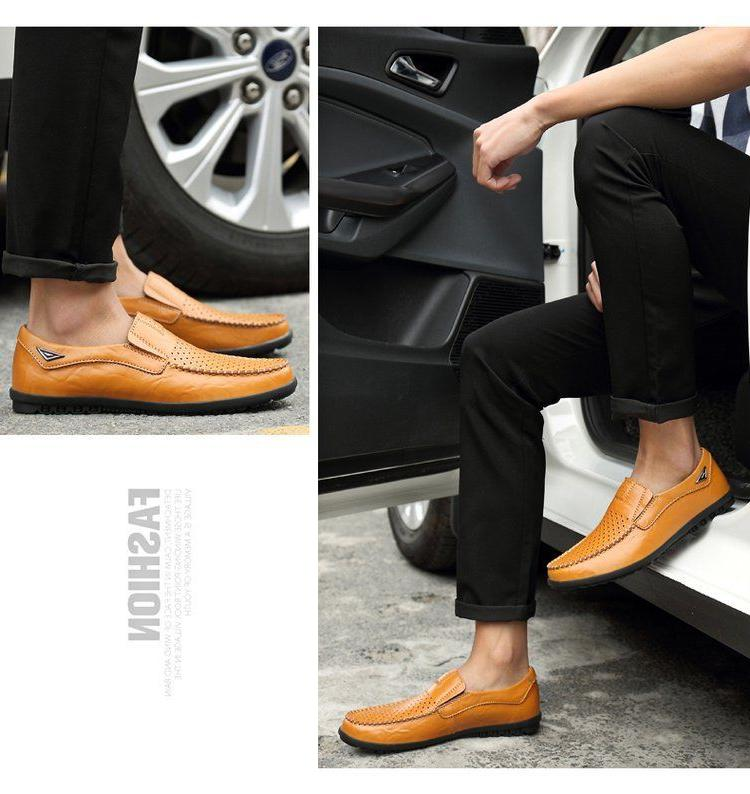 New Driving Shoes Leather Comfortable Flats