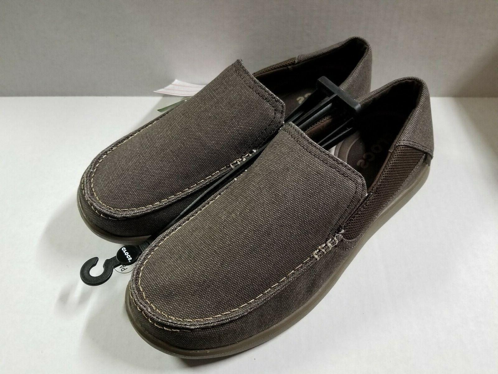 New Men's Crocs Santa Cruz Luxe Slip-ons Shoes 9