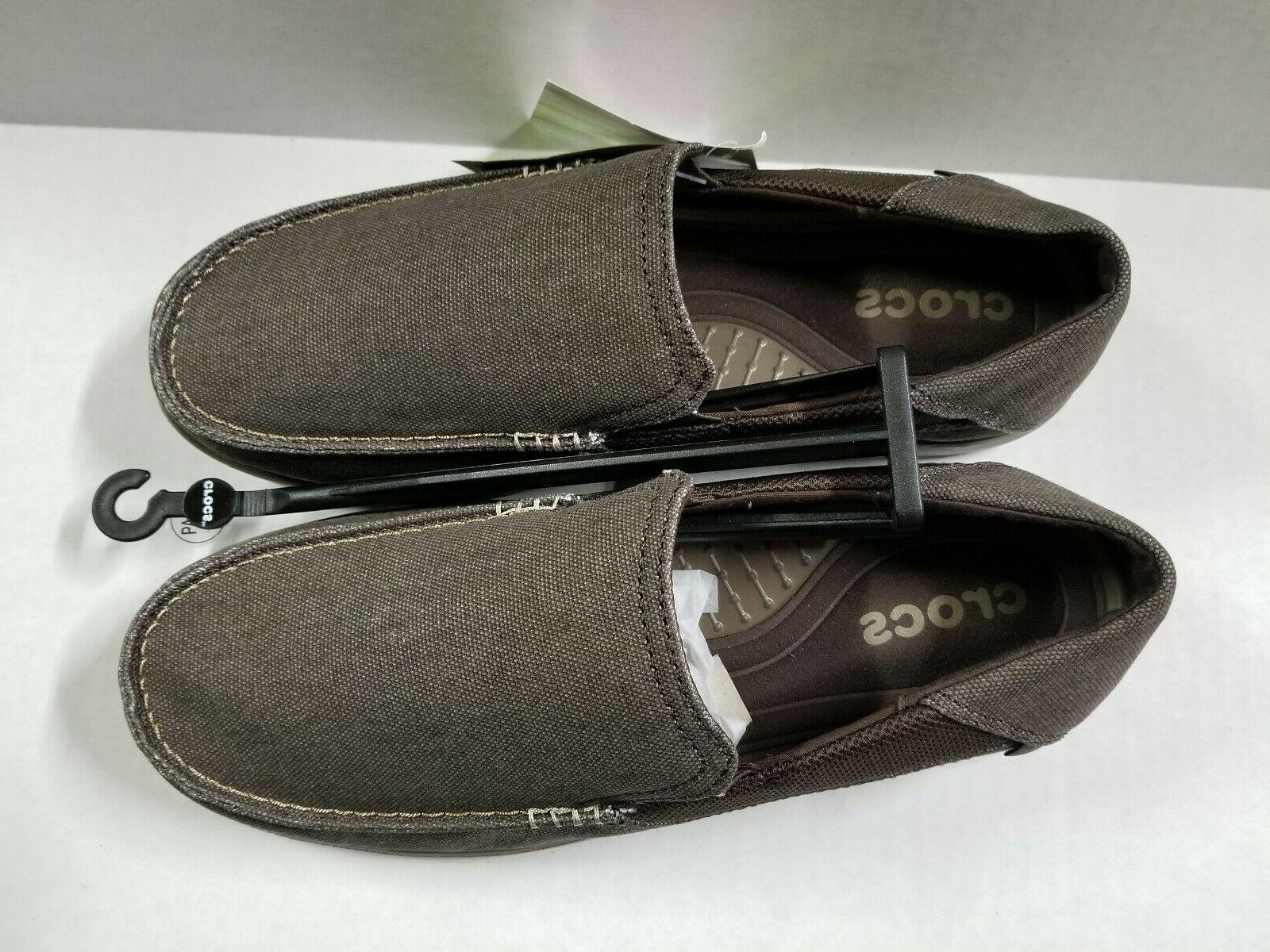 New Men's Crocs Cruz 2 Slip-ons Canvas Shoes SZ 9