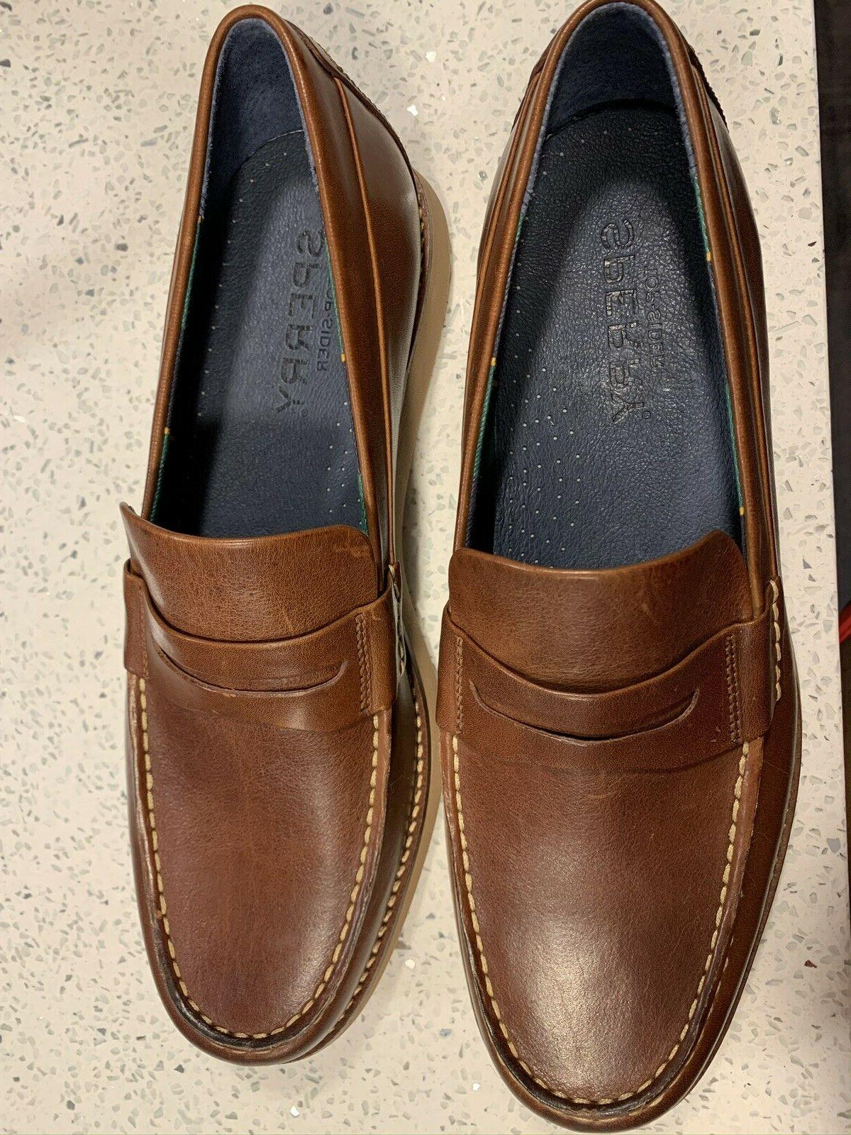 Sider Brown Kennedy Varsity Penny Loafers Sz