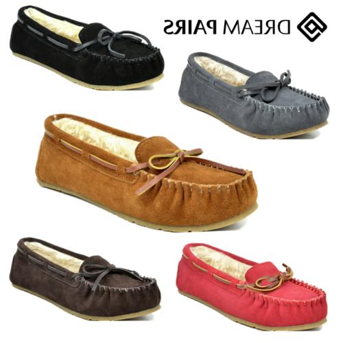 DREAM PAIRS New Soft Women's Shozie Faux Fur Slippers Loafer