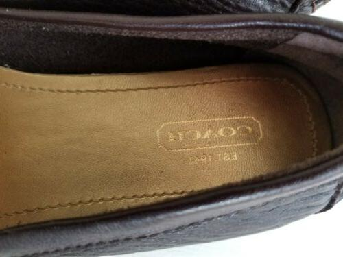 COACH **NEW** Fortunata Medalian LOAFERS /MOCCASIN Brown LEATHER 6M