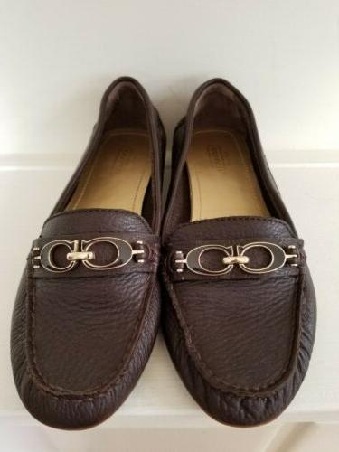 COACH **NEW** Women's Medalian /MOCCASIN LEATHER 6M
