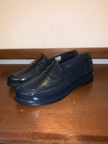 New, Women's Hunter Original Penny Loafer, Blue, Size 9