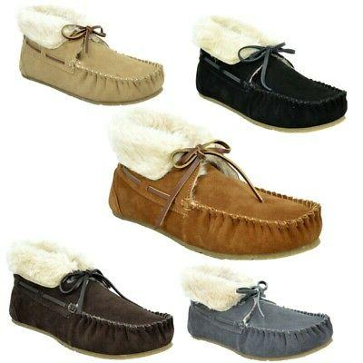 DREAM PAIRS New  Women's Shozie Faux Fur Slippers Soft Loafe