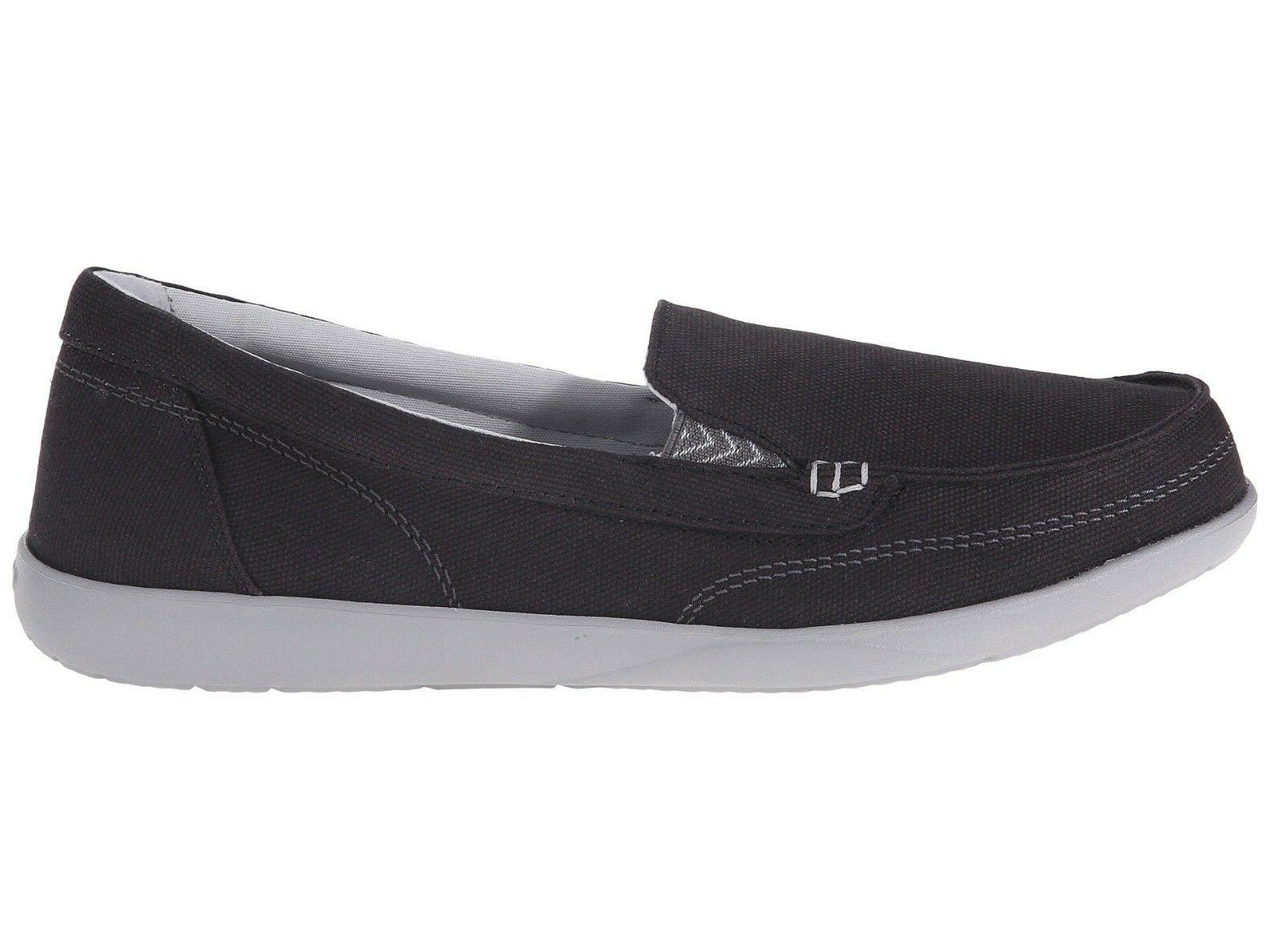 New Women's Crocs WALU II Canvas Slip-on Loafers Shoes SZ 6