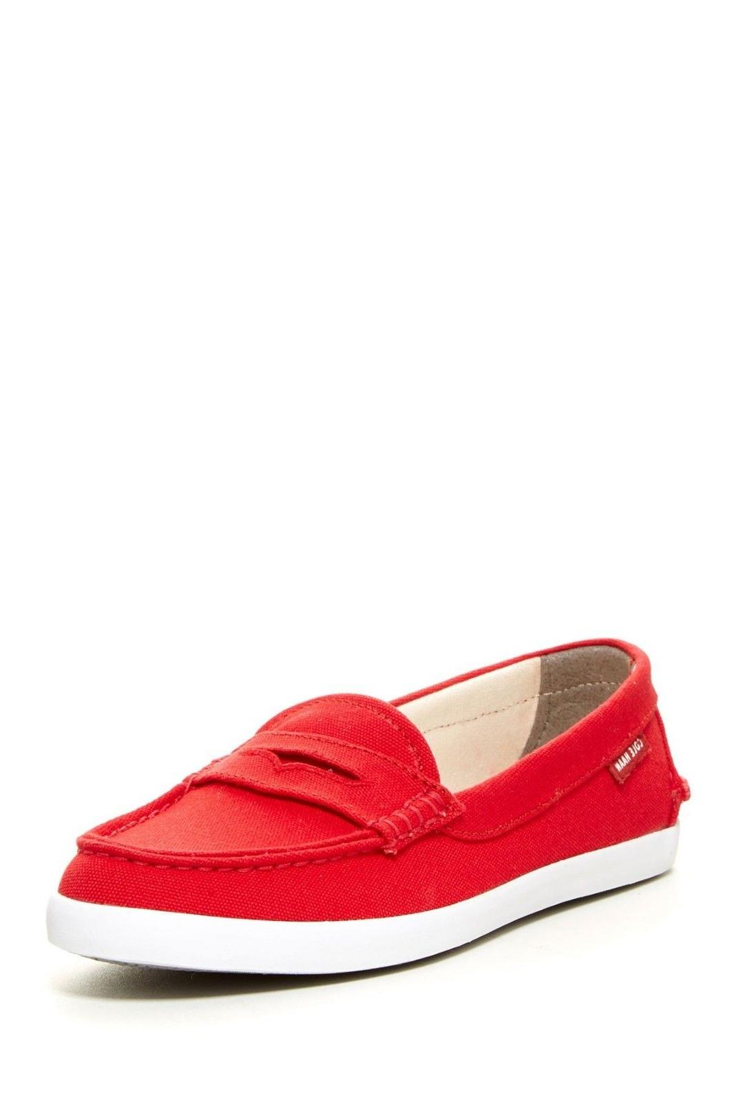 NIB Cole Haan Red Canvas Loafer Flat Shoes