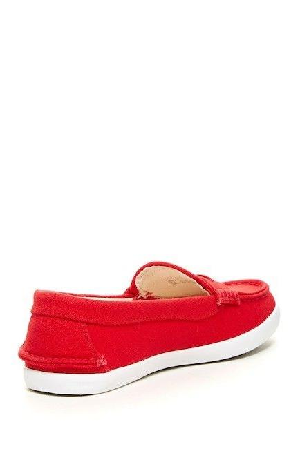 NIB Cole Red Canvas Loafer