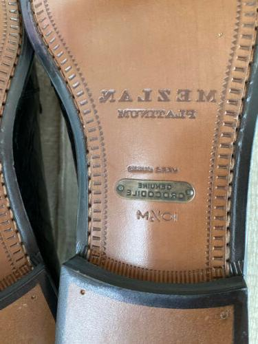 NWOB $795 Crocodile Loafers