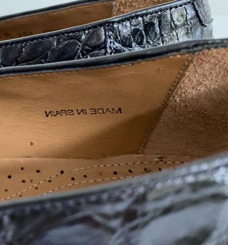NWOB Crocodile Loafers Shoes, 10.5