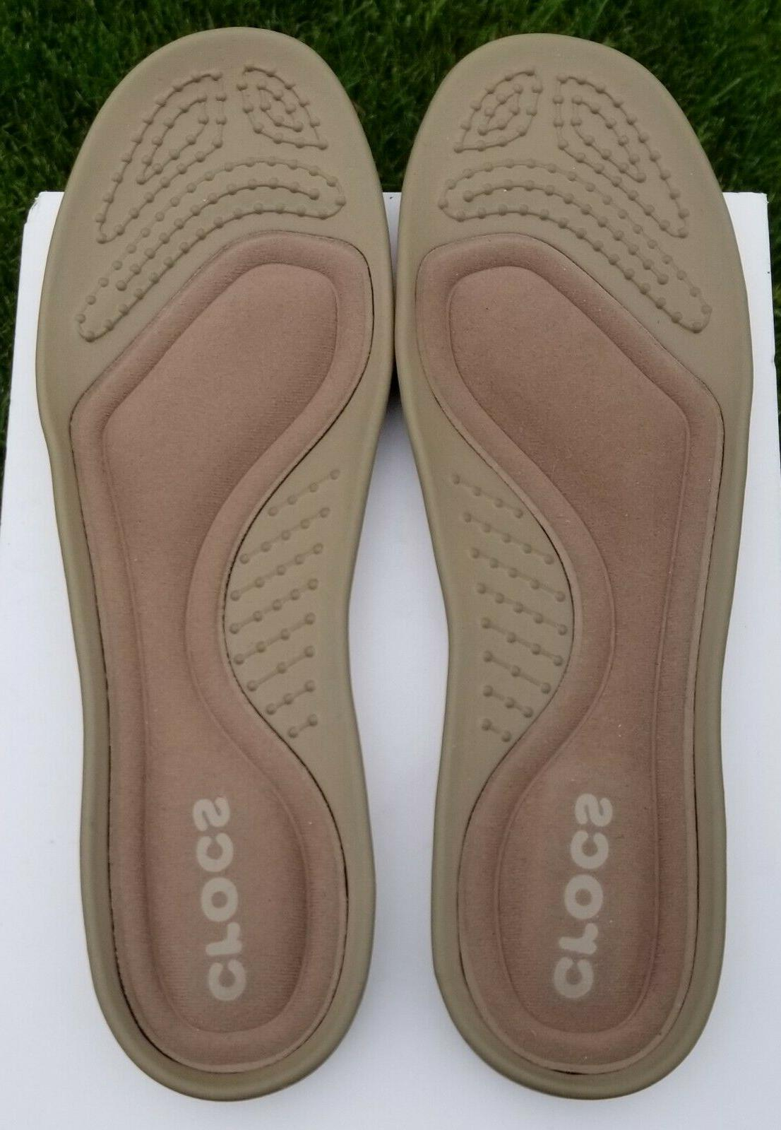 "NWOB CROCS Cruz Luxe"" Canvas Loafers, Mens Size 8"