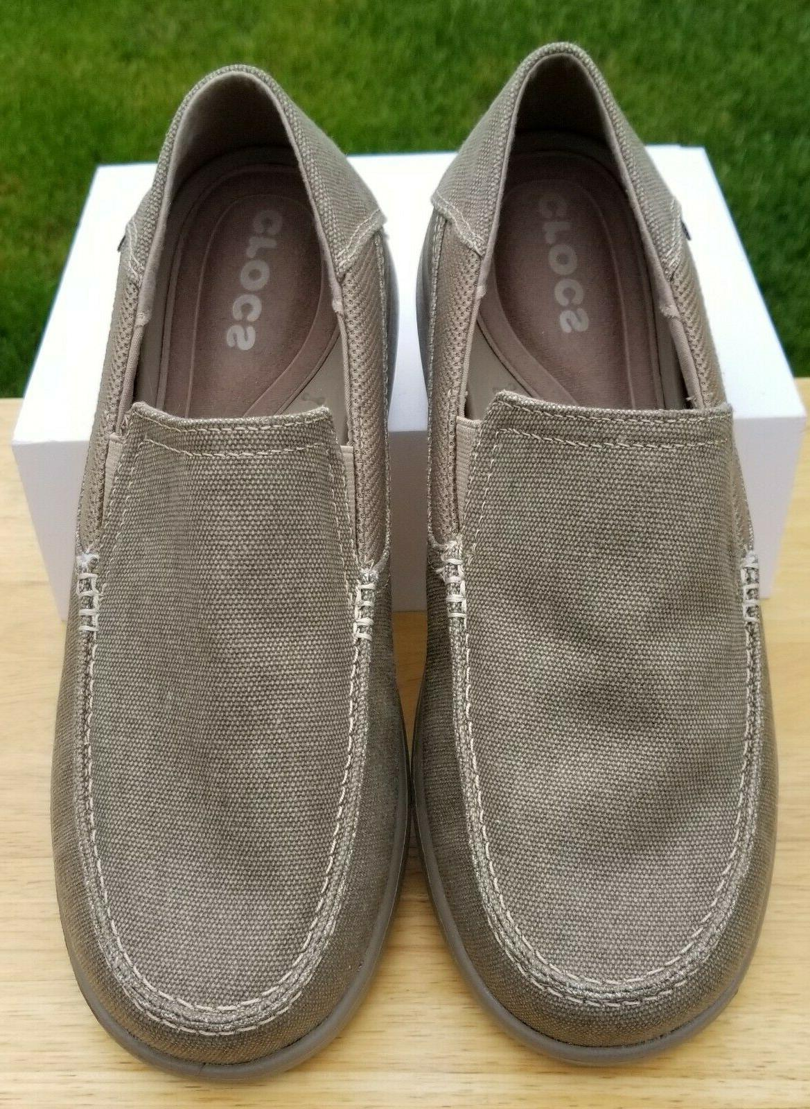 NWOB - CROCS Canvas Loafers, Mens 8
