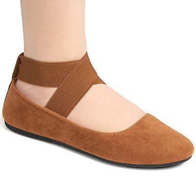 Alpine Swiss Peony Womens Ballet Strap Loafers