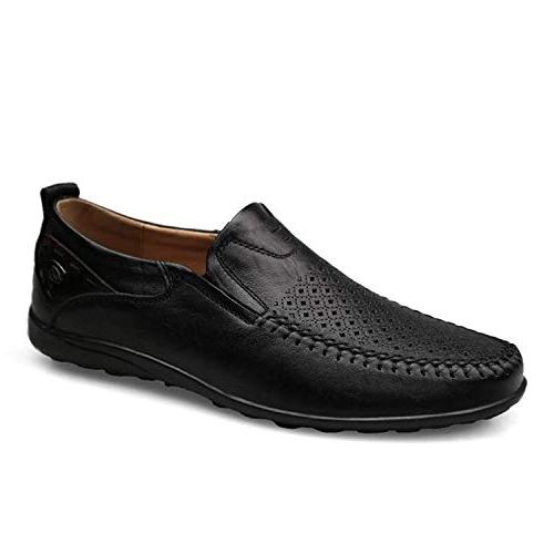 High end Plus 38-46 Men Loafers Leather Men Flats Breathable