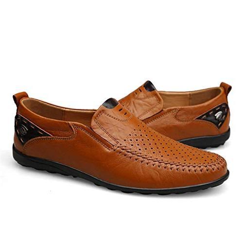 High end Plus Size 38-46 Men Split Leather Breathable