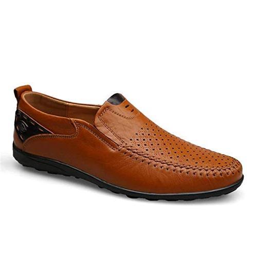 High end 38-46 Men Loafers Leather Men Flats