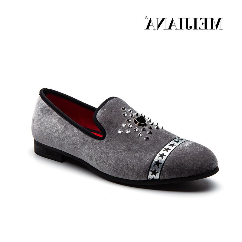 MEIJIANA Velvet Slip Casual Shoes Driving Mocassins Bottom <font><b>Men</b></font>