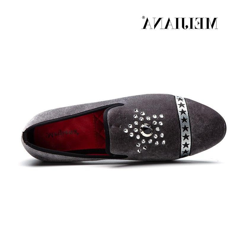 MEIJIANA <font><b>Men</b></font>'s fashion Velvet Slip Shoes Driving Bottom
