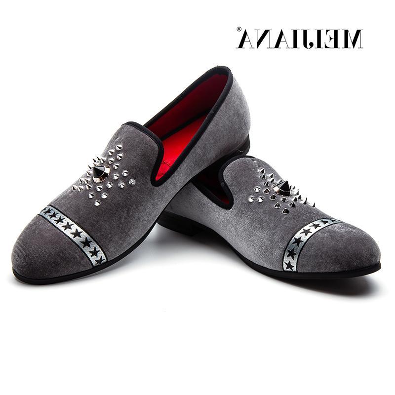 MEIJIANA Popular Velvet Pointed Slip Shoes Red Bottom <font><b>Loafers</b></font>
