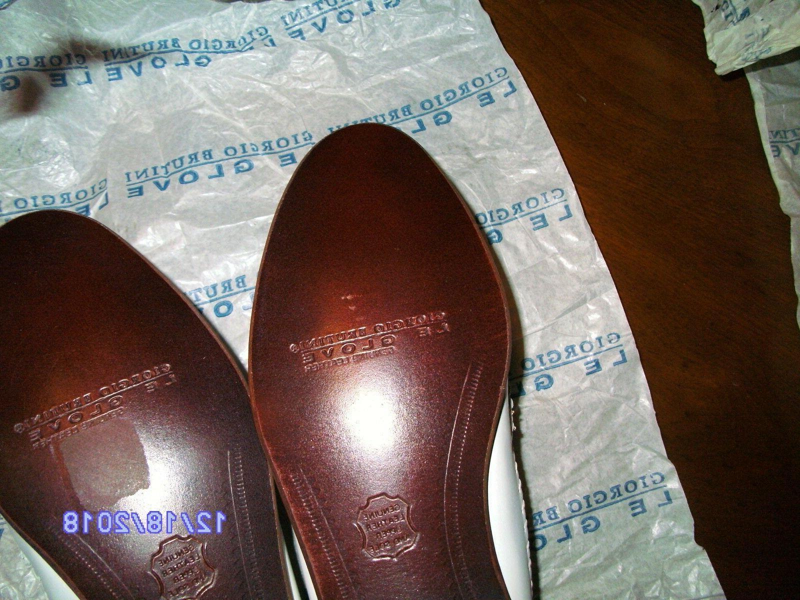 Giorgio Brutini Rare Shoes EEE White Slip On Extra
