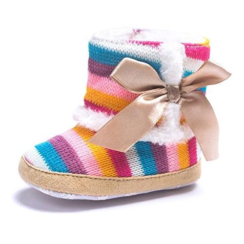 Round Toe Girl Snow Boots Crib Shoes Toddler