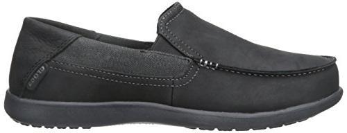 crocs 2 Slip-On Loafer, Black/Black, 10 M
