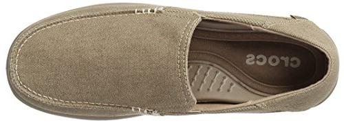 crocs Men's Santa Cruz 2 Loafer, Khaki/Khaki, US