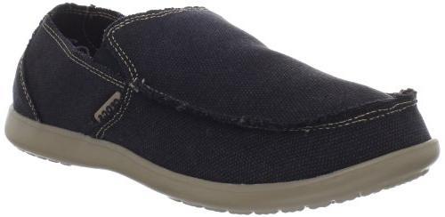 Mens Crocs Santa Cruz Black/Khaki Loafers Black/Khaki