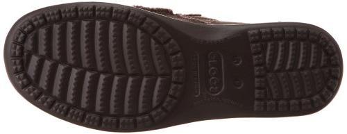 Crocs Tall Espresso Santa Canvas Slip-On