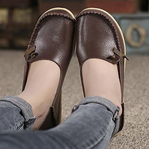 Lucksender Comfort Driving Loafers 8B