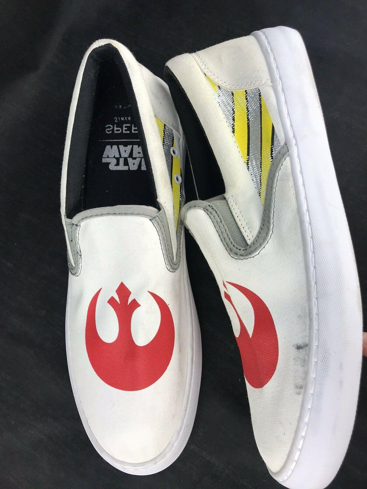 Sperry Boat Shoes 10 Star Wars Canvas Loafers