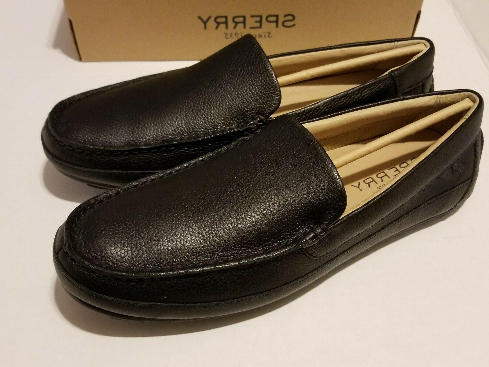 Sperry Top-Sider Venetian Black Leather loafers Sizes