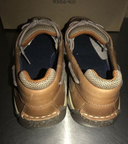 Sperry Top Shoe Lanyard 2-Eye dark Tan Leather Boat Men's Size