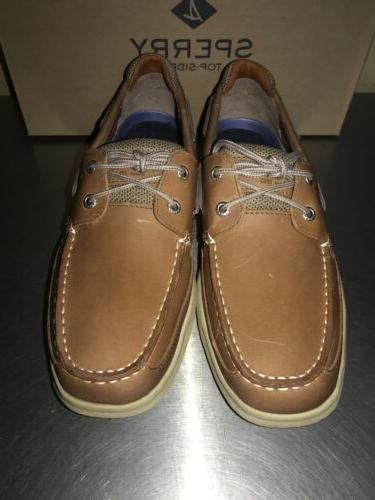 Sperry Top Sider Lanyard 2-Eye Leather Boat Loafers Size