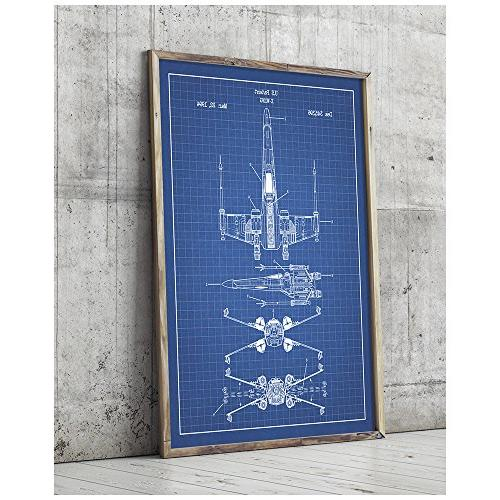star wars assorted patent poster